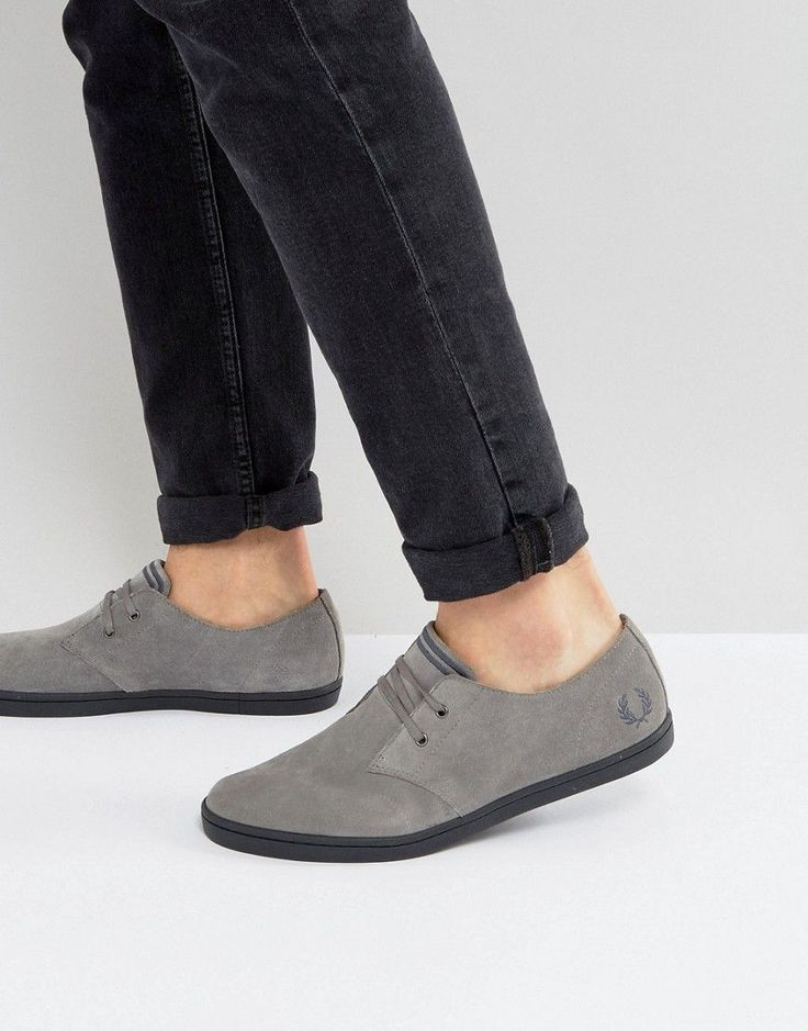FRED PERRY BYRON LOW SUEDE SNEAKERS IN GRAY - GRAY. #fredperry #shoes #