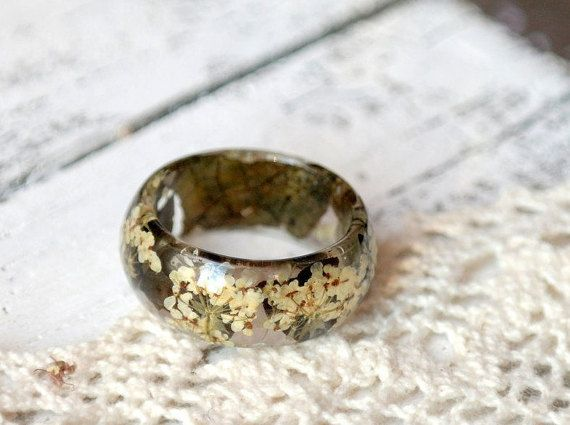 anello in resina Eco Eco natura di vero e di LovelinessNature