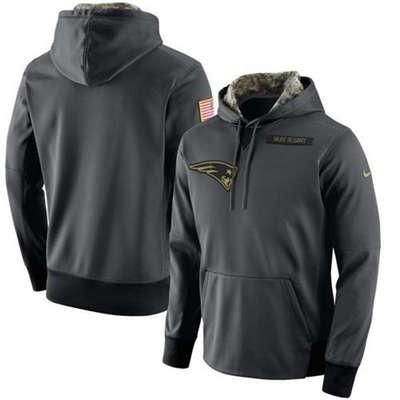New England Patriots Nike Salute to Service Men's Player Performance Hoodie
