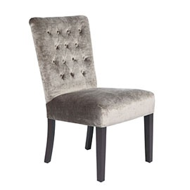 Lola Side Chair - Pewter Gold from Z Gallerie $269 (legs + fabric)