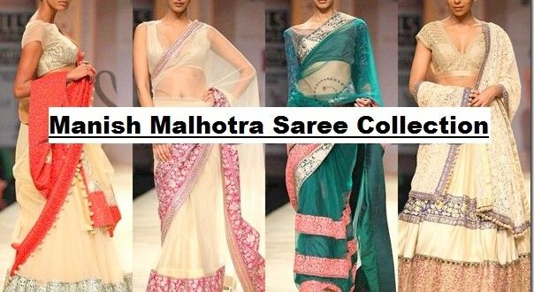 Here's the latest fashion & Trends of Manish Malhotra designer & celebrity Saree Dresses collection 2014-2015 for women. This includes very stylish, beautiful and colorful array of Party wear, wedding wear and casual wear Sari and formal suits for women.