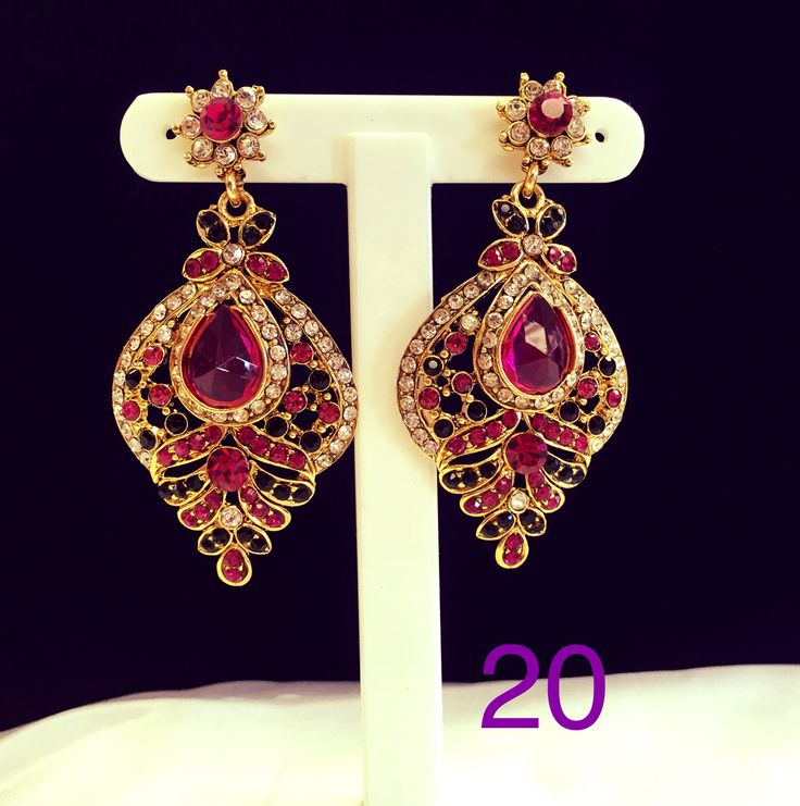 Magenta earrings. Available in various colours
