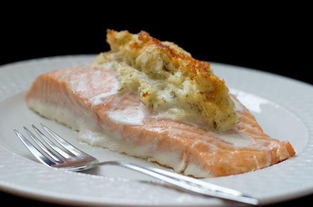 Crab-Stuffed Salmon  #virginiaisforhuntergatherers
