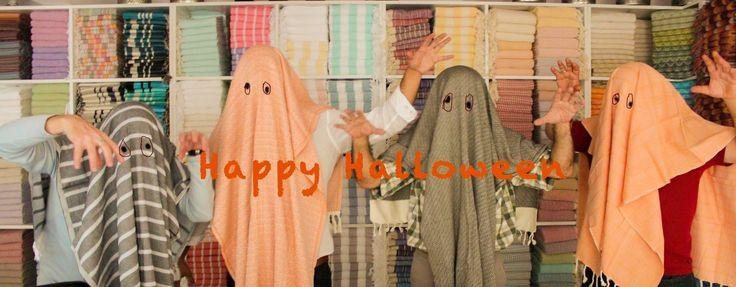 Have a Jennifer's Hamam scary pestamel Halloween!!!  #halloween #jennifershamam #scary #pestamel #cotton #Istanbul #Turkey #organiccotton