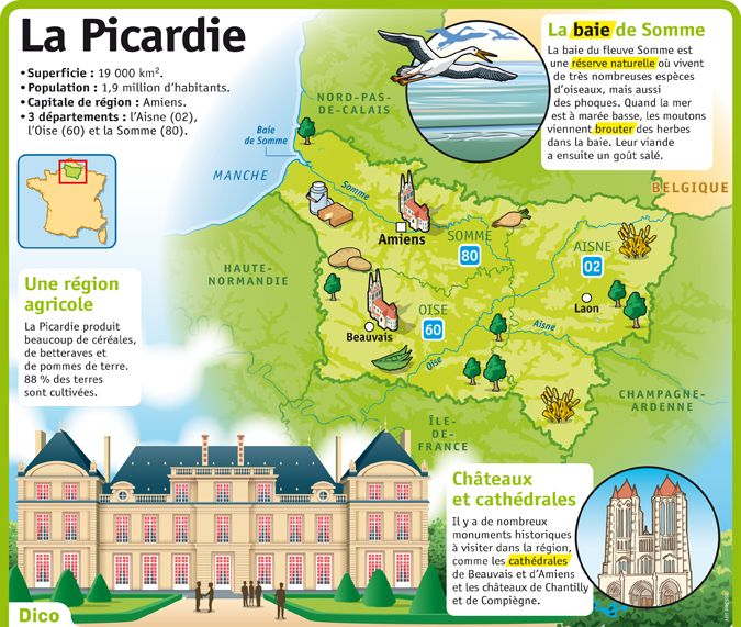 Fiche exposés : La Picardie