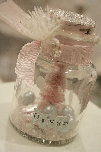 winterland snowglobes... Anne, not exactly this, but maybe we could make winterland snow globes as a wedding favor for your guests-?