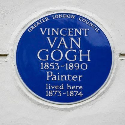 https://www.facebook.com/VincentvanGogh.MiaFeigelson.Gallery Blue plaque for Vincent Van Gogh at 87 Hackford Road, Stockwell, London