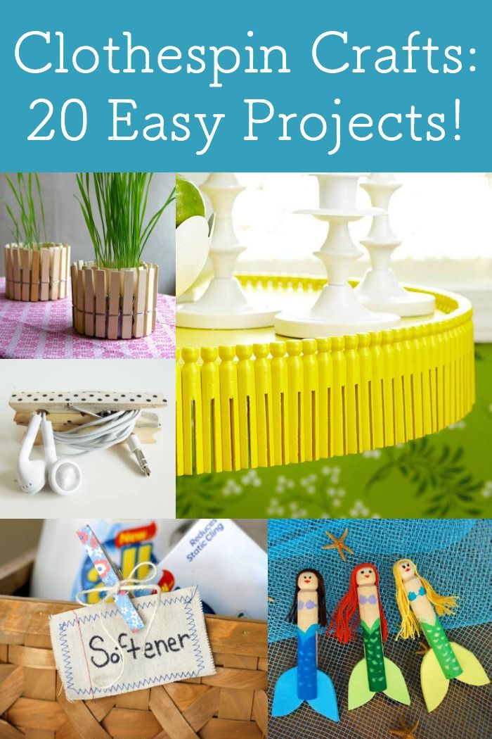Clothespin Crafts 20 Fun Easy Projects Clothes Pin Crafts Fun Easy Crafts Fun Crafts For Kids