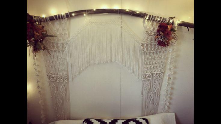 Macrame #macrame #bohochic #bohemian #bedroom #backboard #wedding #weddingbackdrop #outdoorwedding #rental