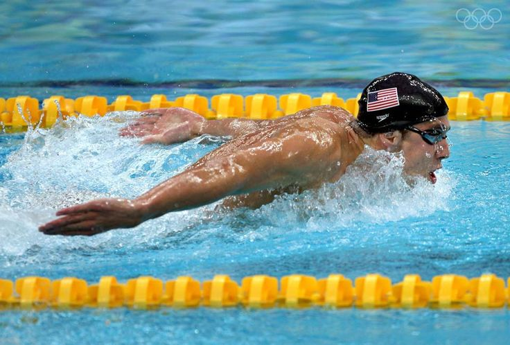 Michael Phelps became the most decorated olympian in 2012 during the summer olympics.  This picture shows how strong and dominate Phelps is in the water.