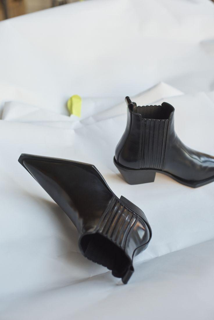 9280679d720 Helmut Lang Leather Cowboy Ankle Boots | SHOES | Boots, Designer ...