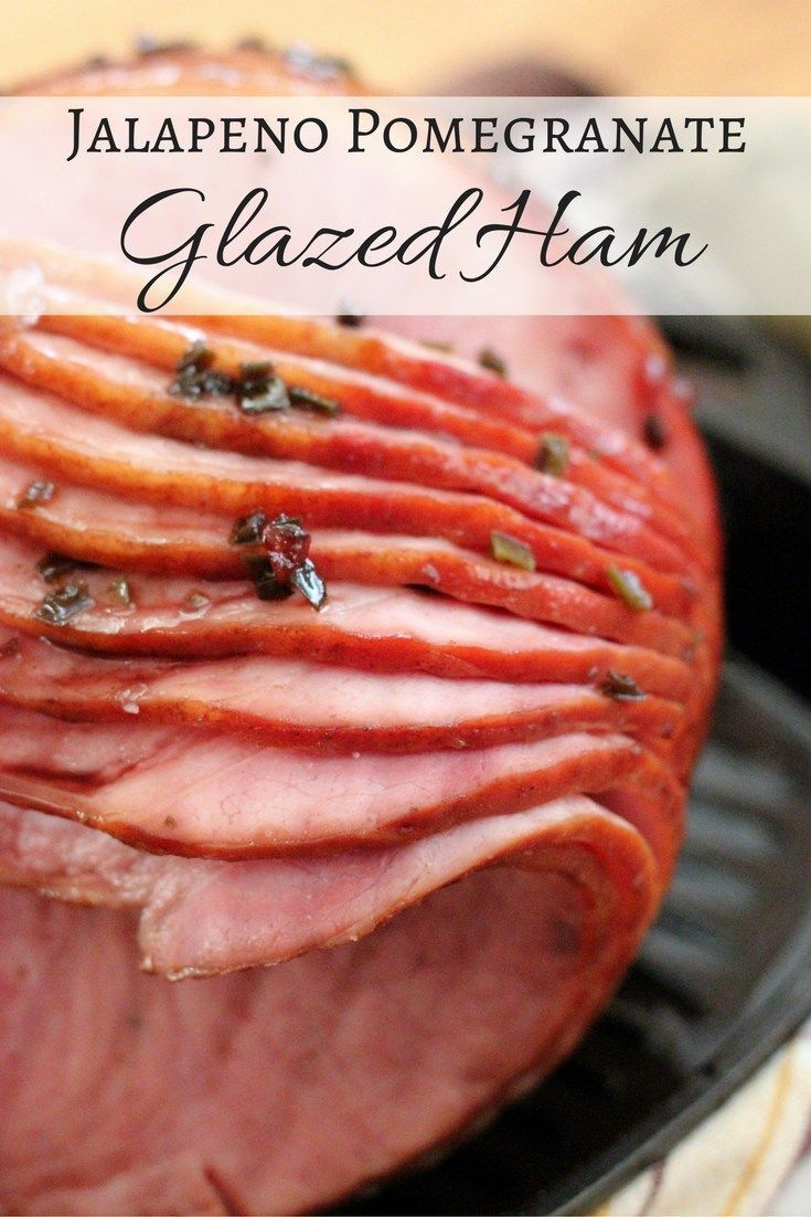 This Jalapeno Pomegranate Glazed Ham is a much needed update on the traditional holiday ham. The burgundy glaze coats the outside of this ham like candy!