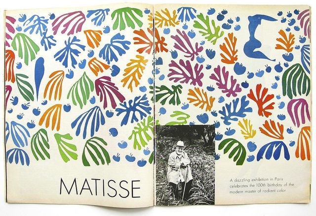 Matisse, from Life Magazine Aug. 1970 by warymeyers blog, via Flickr: Cutouts, La Sirens, La Perruch, Municipal Museums, Art, Henry Matisse, Henri Matisse, Cut Outs, Tate Modern