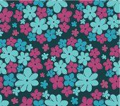 Seamless retro texture with flowers
