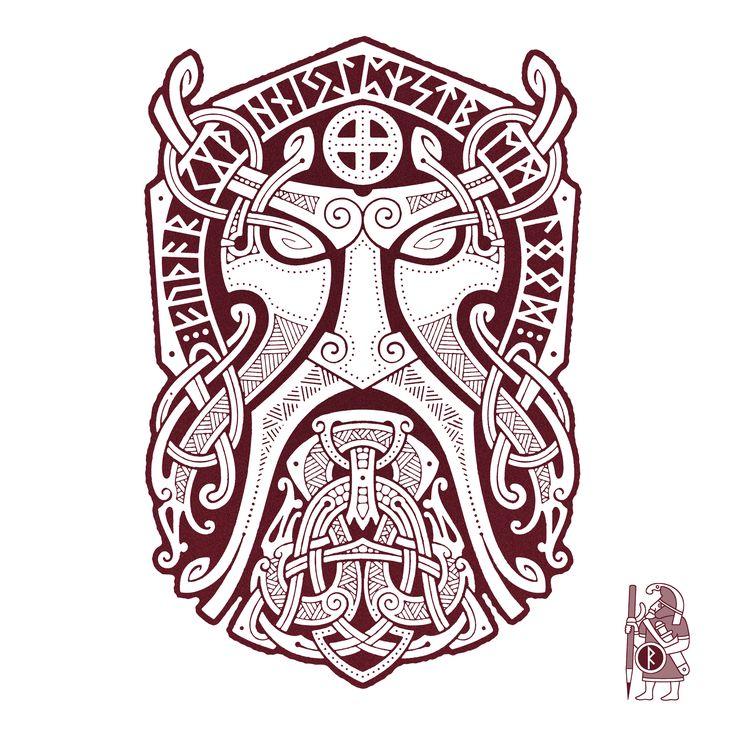 THOR.GODMASK. Knotwork Tattoo design by RAIDHO.