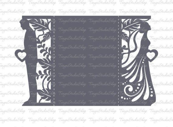Wedding invitation SVG DXF ai CRD eps studio3 Dride