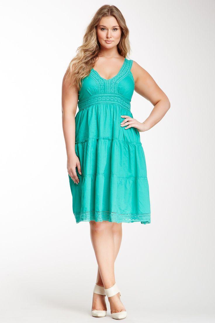 V-Neck Embroidered Dress (Plus Size) by Carol Rose on @nordstrom_rack