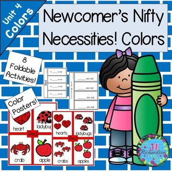 This activity is to help our new ELL's learn color names in English as well as simple singular and plural sentence structures. There are 16 posters that the children can use to make 8 Flap Books for 8 colors. Detailed Lesson Plans are included based on WIDA standards.