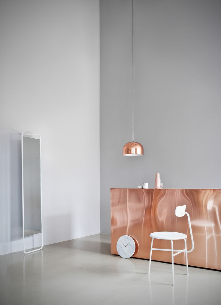 Copper clad work table // image from menu.as This would make an interesting counter cladding