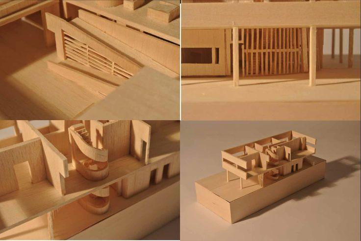 Details, Villa Savoye, study model for Western Architecture