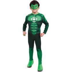 Disfraz de linterna verde musculado para niño