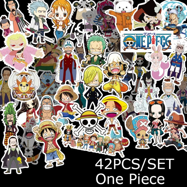 42pcs one piece car sticker laptop skateboard trolley decals styling doodle price 28 00