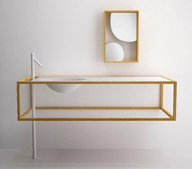 La salle de bain moderne minimaliste est minimaliste dans ses meubles et ses détails.Ce sont nos 33 idées d'ameublement de salle de bain design et tendance
