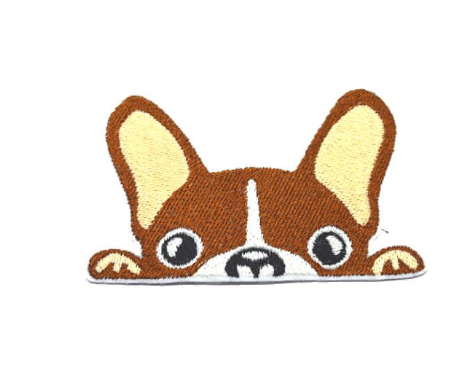 French bulldog Iron On  Applique Embroidered Patches Machine Embroidery Design for french bulldog-lover