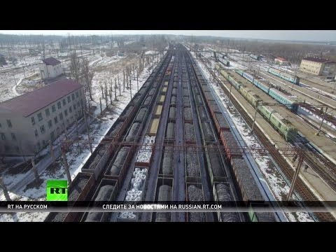 Украина на грани энергокатастрофы — радикалы заблокировали железнодорожные пути для доставки угля - YouTube