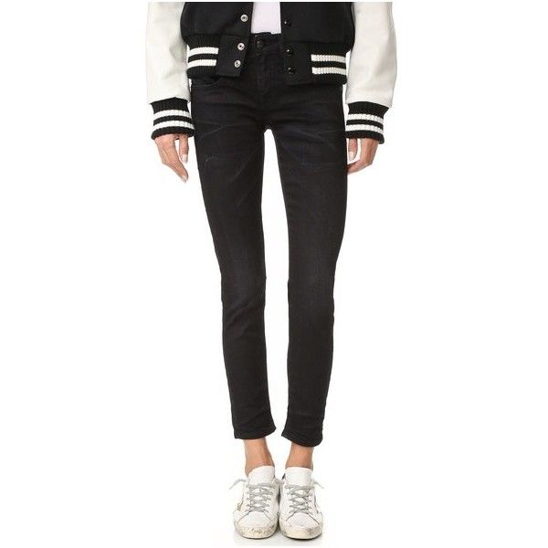 R13 Boy Skinny Jeans ($325) ❤ liked on Polyvore featuring jeans, black, skinny fit jeans, 5 pocket jeans, saggy jeans, cut skinny jeans and slouchy jeans
