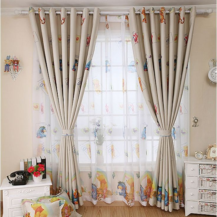 Blackout Cartoon Curtain for Children's Room - Winnie and Tigger
