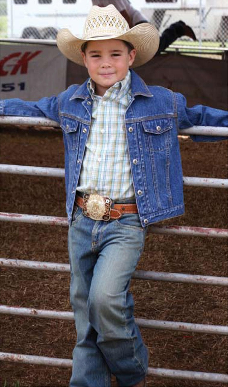 Lil' cowboys will look so cute in traditional and fun western clothing that look just like dad!
