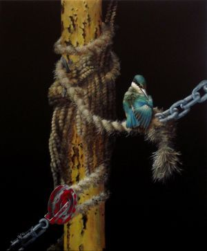 Gary Roberts, 'The Old Rope - Kingfisher' (2013) Acrylic on canvas, 600 x 500 mm, POA at the Remuera Gallery