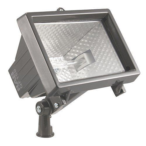 RAB Lighting QF150F Quartz Curve Commercial Flood Light by RAB Lighting. $16.69. Finish:Architectural Bronze, Light Bulb:(1)150w T3 R7S 78mm 120v Halogen  Low cost, high quality die cast flood   EZ Grip locknut matches fixture finish and can be adjusted with fingers, pliers or a screwdriver  Stainless steel clip with Vandal Proof screw capability  Integra Hood Glare Shield for Friendly Lighting when properly aimed