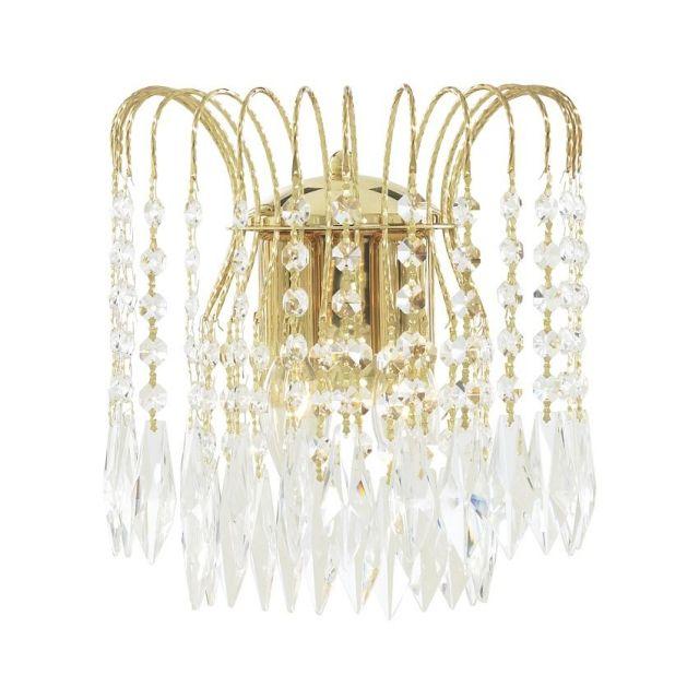 5172-2 Waterfall - nástenná lampa - krištáľ+zlatý kov
