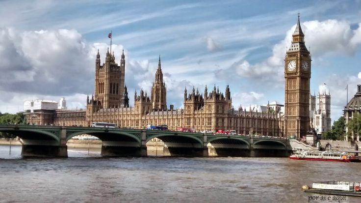 Por Ai e Aqui: Londres ( Palácio e Catedral de Westminster - Port...