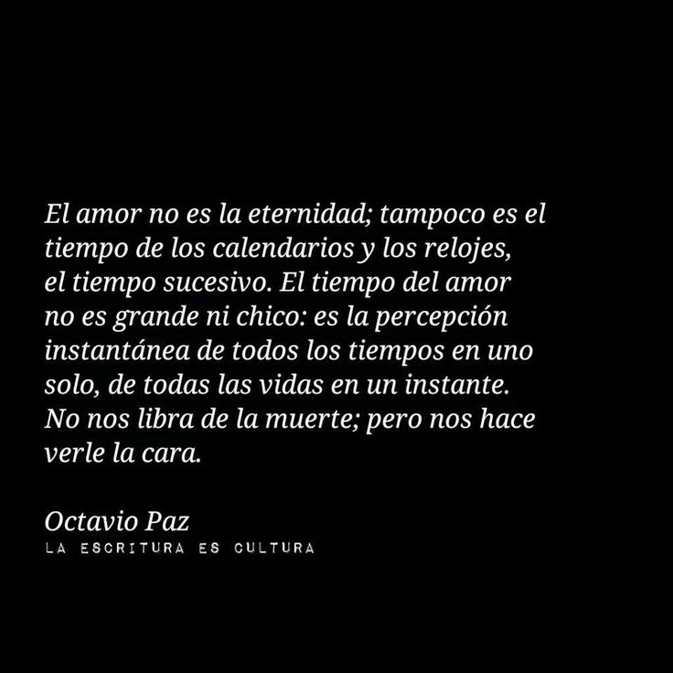 El amor...Octavio paz
