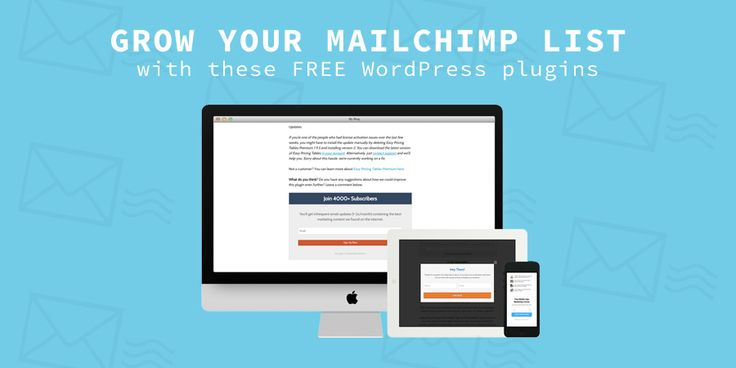 Free 5 WordPress Plugins for MailChimp number of great email subscription providers available online will focus on MailChimp