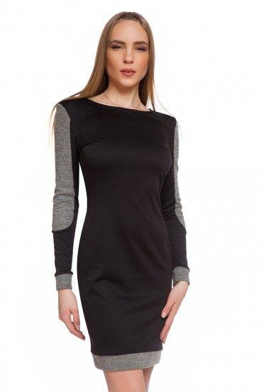 7fb5d5c4e828 Dámske šaty s dlhými rukávmi FRINA - čierna