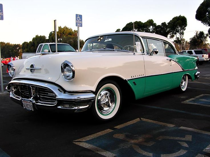 My first car!! 1956 Oldsmobile. I learned to drive on this car and got my drivers's license in 1957