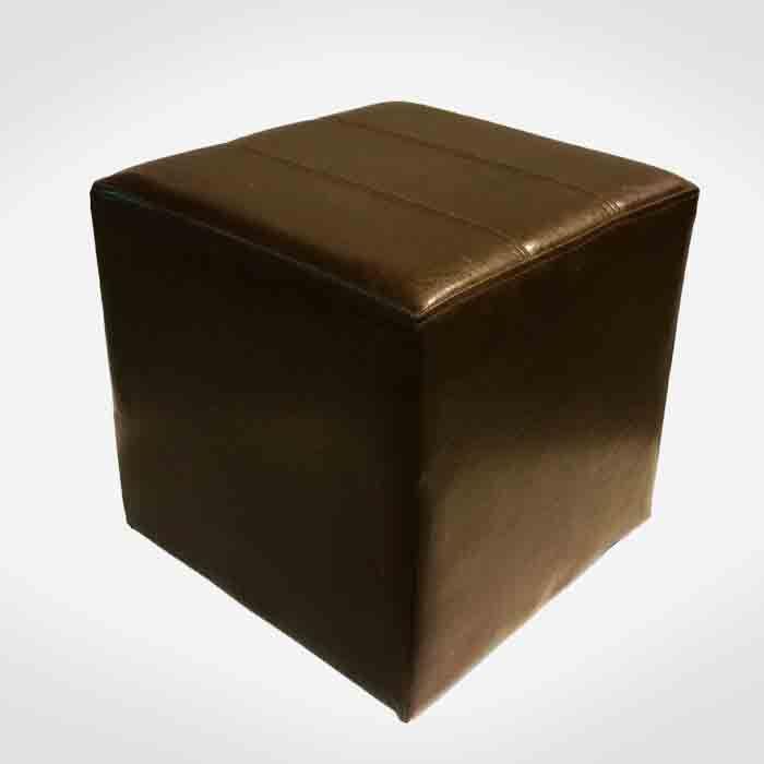 Puf piel sint tica color chocolate venta y alquiler de - Objetos de segunda mano ...