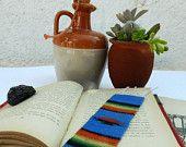 Sarape de Saltillo Etsy  #sarape #sarapedesaltillo #weaving #mexico #textil #succulent #bookmark