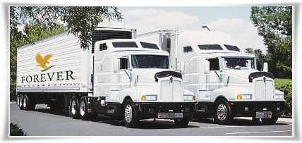 Forever Living's Owned Trucks For Product Distribution #StabilizedAloeVera #AloeVera #ForeverLivingProducts