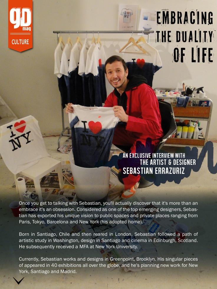 Sebastian Errazuriz in an exclusive interview... The designer's view...