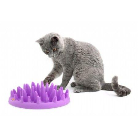 NORTHMATE CATCH is een interactieve voeder apparaat voor katten die de natuurlijke instincten van de kat en hun vermogen om voedsel te nemen met zijn poten stimuleert. De gewenste hoeveelheid voedsel verspreid over het NOORDEN MATE CATCH en het is de taak van uw kat door te drukken en weer naderen het aangebracht tussen de vele gladde, afgeronde pinnen langs te komen. NOORD-MATE CATCH verlengt aanzienlijk de maaltijd. Het resultaat is een gelukkigere kat die spelenderwijs aan zijn eten komt.