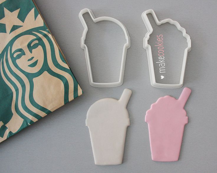 Frappuccino Cookie Cutters Set (2 pieces) by MakeCookies on Etsy