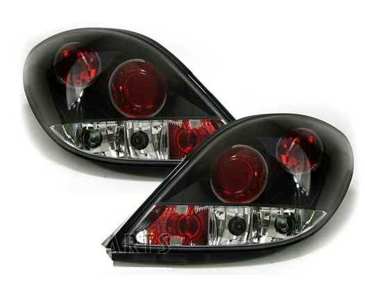 Peugeot 207 2006-2012 3/5dr Black Lexus Style Rear Tail Lights