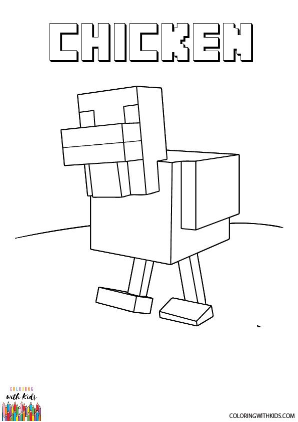 Minecraft Coloring Pages Free Coloring Pages Minecraft Coloring Pages Chicken Coloring Pages Coloring Pages