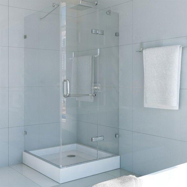 Vigo Vg6011 32x32w Frameless 32 X 32 Inch Shower Enclosure With Base Shower Doors Shower Stall Shower Enclosure