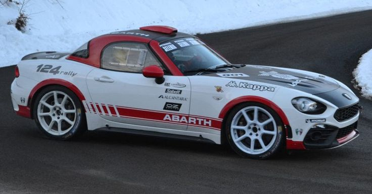 New Abarth 124 Rally Is Ready For The Monte Carlo Rally #Abarth #Fiat_124_Spider
